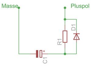 Pufferschaltung für Elektrolyt-Kondensatoren