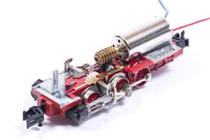 Eingebauter Glockenankermotor