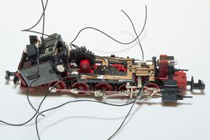 Lampenträger mit Decoder eingesetzt