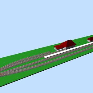 3D-Ansicht des Bahnhofs