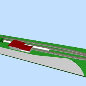 3D-Ansicht des Bahnhofs, Version 2