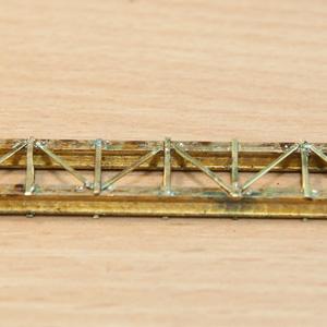 Die Brücke, aus Messing gelötet